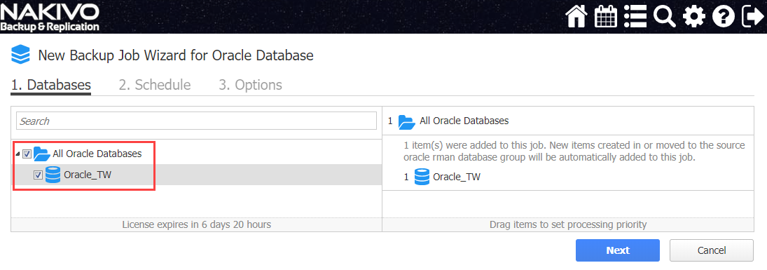 backup for Oracle RMAN